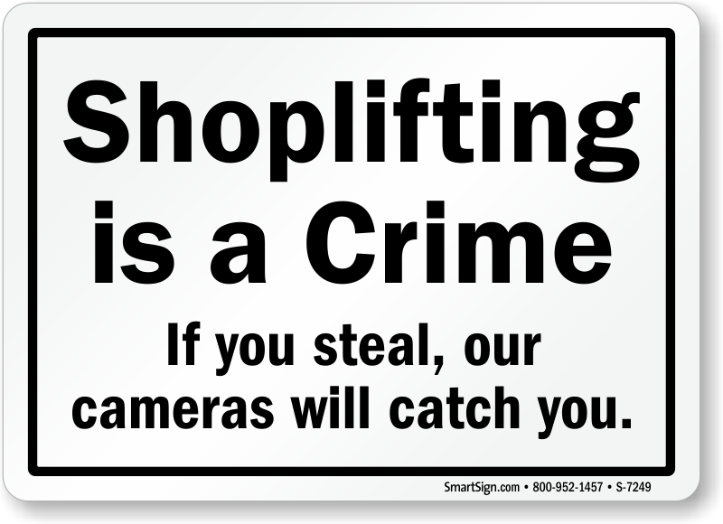 If You Steal Our Cameras Will Catch You Sign, SKU: S-7249
