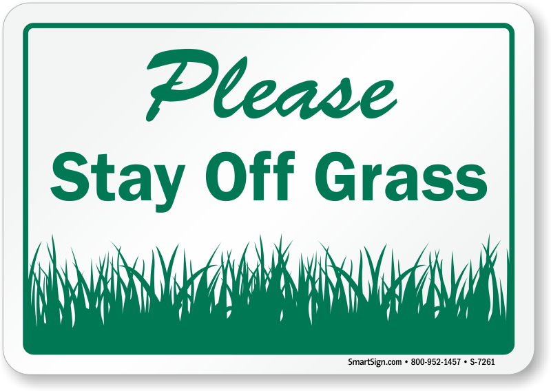 keep off grass signs free shipping options