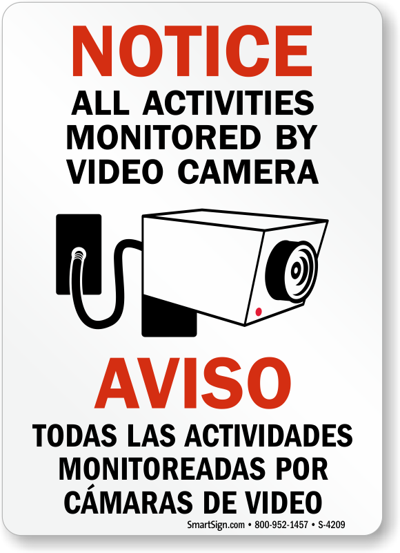 Security Camera Signs   Guaranteed Best Prices