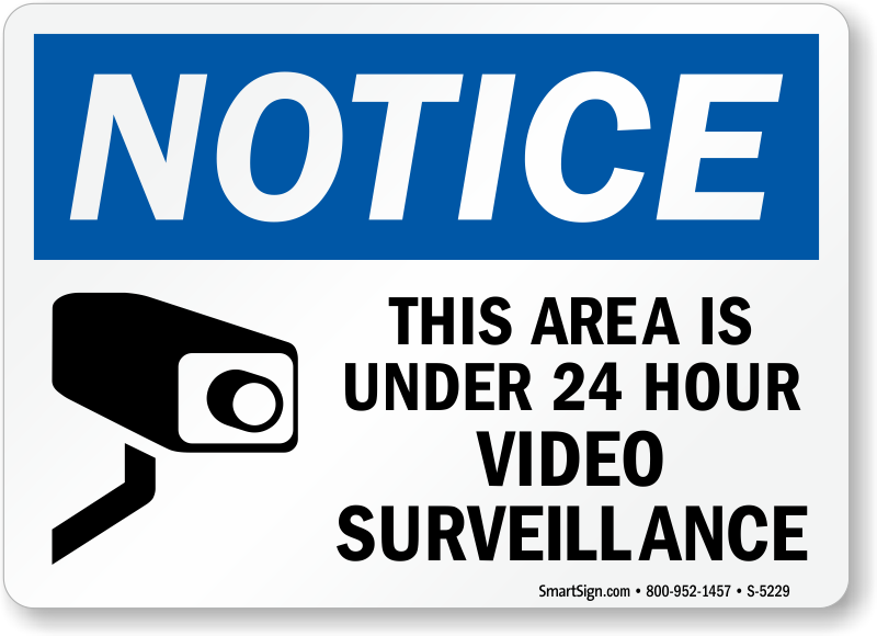 Video Surveillance Signs | 24 Hour Security