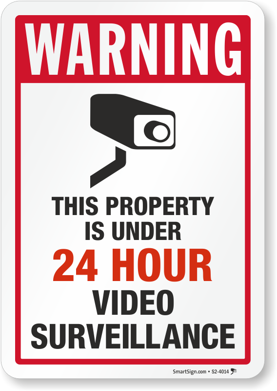 this property under video surveillance sign - 568×800