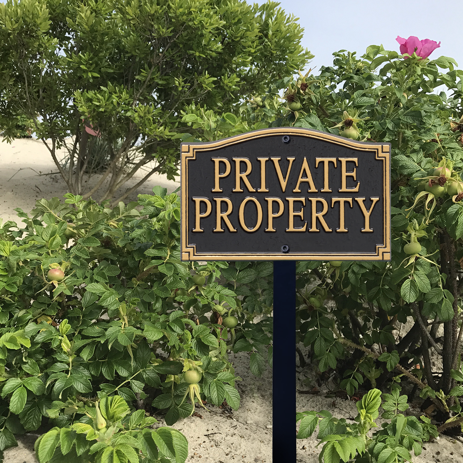 Private Property Statement Lawn Plaque With Stake Signs Sku Wp 0004