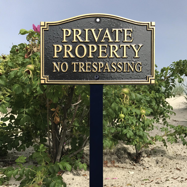 No Trespassing Statement Lawn Plaque Sku Wp 0019