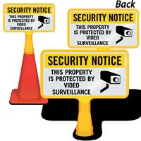 Security Notice Video Surveillance ConeBoss Sign