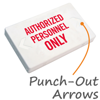 Authorized Personnel Only LED Exit Sign with Battery Backup