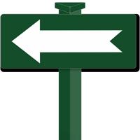 Left Arrow Easystake Sign