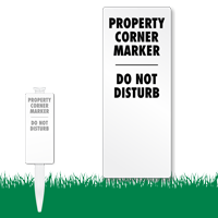 Property Corner Marker EasyStake Survey Sign