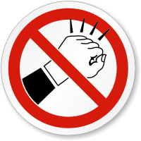 Do Not Knock ISO Sign