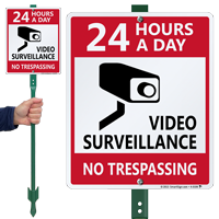 24 Hour A Day Video Surveillance Sign
