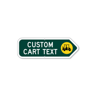 Add Your Custom Cart Text Right Arrow Sign