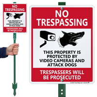 Property Is Protected By Video Cameras Lawnboss Sign