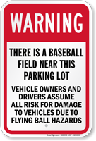 Baseball Warning Sign