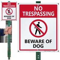 No Trespassing Beware Of Dog Sign