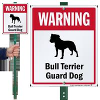 Warning Bull Terrier Guard Dog LawnBoss™ Signs