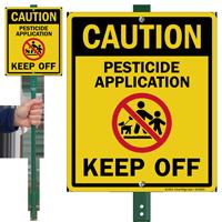 Caution Pesticide Application Keep Off Lawnboss Sign Kit