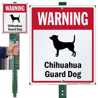 Warning Chihuahua Guard Dog LawnBoss™ Signs