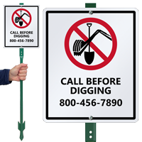 Custom Call Before Digging Sign