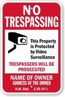 Custom New Mexico No Trespassing Sign