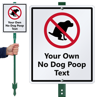 Personalized No Dog Poop Sign & Stake Kit