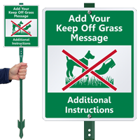 Custom Keep Off Grass LawnBoss Sign