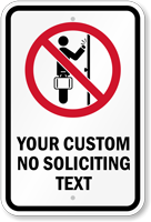 Custom No Soliciting Text Graphic Sign