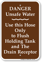 Danger Unsafe Water Campground Rules Sign