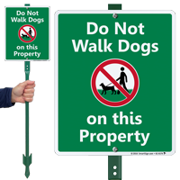 Do Not Walk Dogs On Property LawnBoss Sign