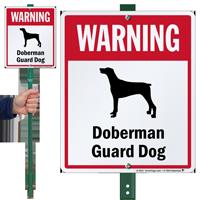 Warning Doberman Guard Dog LawnBoss™ Signs