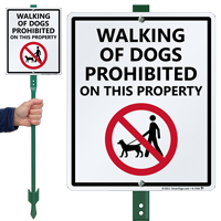 Dogs Prohibited with Graphic Sign