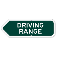 Driving Range Golf Course Sign