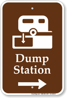 Dump Station With Right Arrow Sign