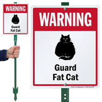 Warning Guard Fat-Cat LawnBoss™ Signs