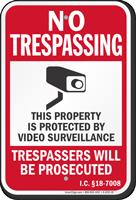 Idaho Trespassers Will Be Prosecuted Sign