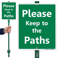 Please Keep To The Paths Lawnboss Sign Kit