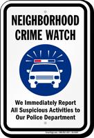 Neighborhood Crime Watch Sign
