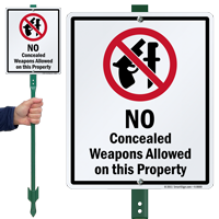 No Concealed Weapons Property Sign
