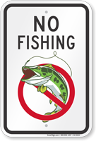 No Fishing (with graphic) Sign