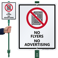 No Flyers No Advertising LawnBoss Sign