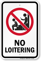 No Loitering Prohibition Sign