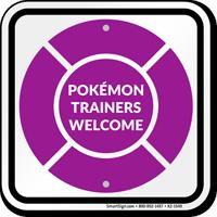 Pokémon Trainers Welcome Sign, Purple Poké Ball