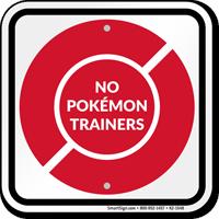No Pokémon Trainers Sign, Red Poké Ball