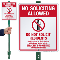 No Soliciting Allowed LawnBoss Sign