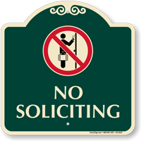 No Soliciting Signature Sign
