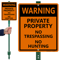 No Trespassing No Hunting Sign