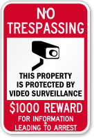 $1000 Reward For Information Leading To Arrest Sign