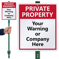 Custom Private Property Lawnboss™ Sign & Stake Kit