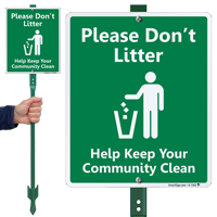 Do Not Litter with Graphic Sign