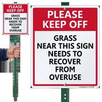 LawnBoss Sign & Stake Kit