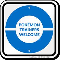 Pokémon Trainers Welcome Sign, Blue Poké Ball