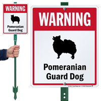 Warning Pomeranian Guard Dog LawnBoss™ Signs